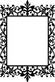Ornate Frame Silhouette at GetDrawingscom Free for personal use