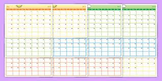 Printable School Year Calendars Academic Year Monthly Calendar Planning Template 2018 2019