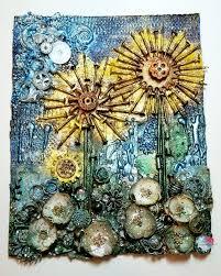 mixed media canvas. Contemporary Media Sunflower Mixed Media For Canvas A