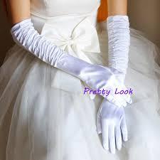 Satin Gloves For Wedding
