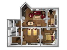 Interior Plan Houses Birdseye D Furniture Layout Orpheus - 3d house interior