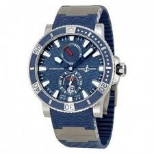 top 10 best luxury watches for men reviewed 2017 best mens luxury watch ulysse nardin maxi marine diver titanium blue dial blue rubber mens