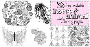 23 Free Printable Insect Animal Adult Coloring Pages Nerdy Mamma