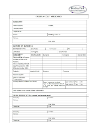 Sample Credit Card Application Form Generic Payment Trejos Co