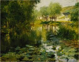 willard metcalf s lily pond 1887