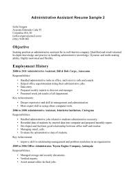 Resume Objective Administrative Assistant Examples Sample Executive Assistant Resume Sample Executive Assistant Resume 2