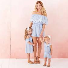 Fashion <b>Summer Family Matching</b> Outfit Mother Daughter <b>Clothes</b> ...