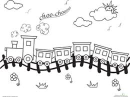 Cat colouring pages activity village. Train Coloring Pages Education Com