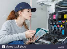 Printer Technician Female Printer Technician Stock Photo 277108239 Alamy