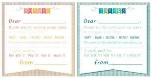 Printable Thank You Cards Printable Birthday Thank You Notes