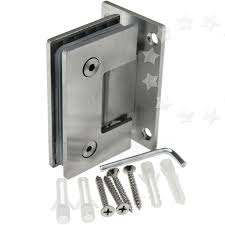 glass shower door hinges new bracket frameless wall to hinge mount