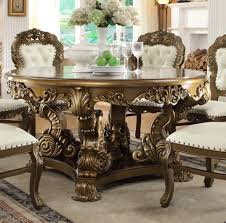 homey design hd 5800 9 pieces dining table set in formal round with