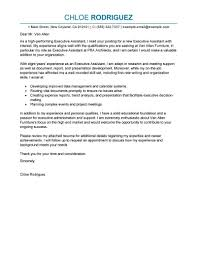 Cover Letter Examples Executive Assistant The Letter Sample