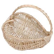 heart wicker basket with handle