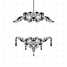 chandelier clipart vintage frame 8