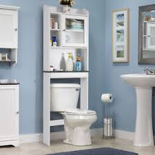 bathroom cabinets over toilet. Over-the-Toilet Bath Cabinet Bathroom Space Saver Storage Organizer White New Cabinets Over Toilet R