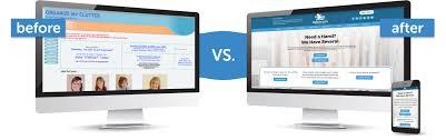 Website Design Springfield Il Organize My Clutter Before After Website Design By Mavidea