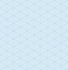 Isometric Graph Paper Background Seamless Pattern Vector Illustration
