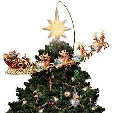 Lighted Globe Led Revolving Tree Topper The Thomas Kinkade Revolving Christmas Tree Topper