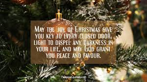 May The Light Of Christmas May The Joy Of Christmas Give You Key To Every Closed Door