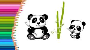Small Picture Cute Baby Panda Coloring Pages for Kids to Learn to Color for