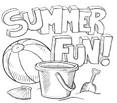 Fun Coloring Pages For Kids Easy Summer Water Page Printable Sheets