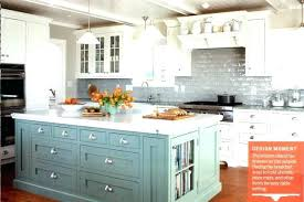 Painted Kitchen Island Popular Of Blue Painted Kitchen Cabinets