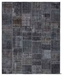 grey over dyed turkish patchwork rug 8 2 x 10 98 in x 120 in
