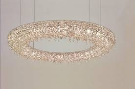 lolli e memmoli ugolino modern crystal halo light fixture handcrafted in italy for at 1stdibs