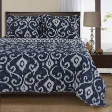 navy and white quilt.  White Simple Luxury Cambridge Reversible Navy Blue Quilt Set Throughout And White V