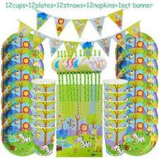 49pcs <b>Jungle</b> Party <b>Birthday</b> Party Decorations   Kids party ...