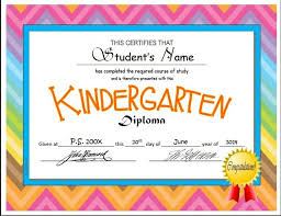 Kindergarten Diploma Printable Certificates Luxury Sample Of Nursery