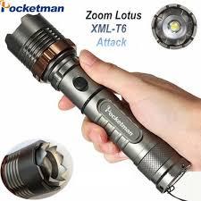 <b>8000lm</b> T6 <b>LED Flashlight</b> Torch <b>Rechargeable</b> Lantern Hunting ...
