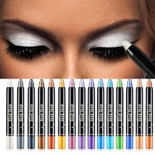 single color eyeshadow pencil silver white eyes makeup shadow stick cosmetics eyeshadow highlighter glitter metallic makeup tool glitter makeup how to apply