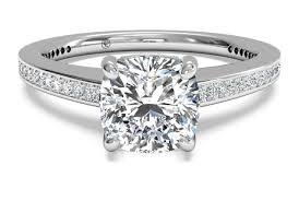 vintage cushion cut diamond ring pricescope