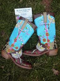painted leather boots by myhearttoyoursole on 100 00