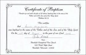 Sample Baptism Certificate Template Interesting Word Certificate Template Scugnizziorg