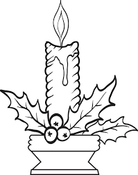 Small Picture Christmas Candles Coloring Page