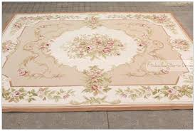 burdy aubusson area rugs wool hand woven shabby chic french style rug carpet pink ivory in