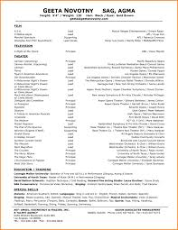 Acting Resume Template For Microsoft Word Actor Temp Saneme