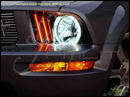 2006 Mustang Halo Lights Oracle 05 09 Ford Mustang Led Dual Color Halo Rings