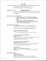 How To Write A Resume Examples And Samples Medic Tech Medical