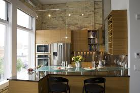 image of kitchen track lighting home