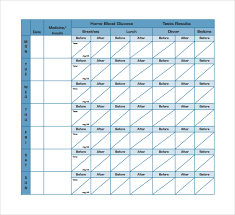 Printable Blood Sugar Log Sample Template 8 Free Documents In Pdf