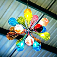chandelier colored blue crystal