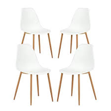 greenforest dining chairs set of 4 eames modern style kitchen chair metal wood legs