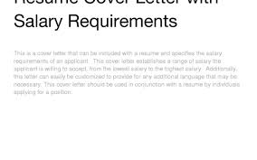 100 Including Salary Requirements In Cover Letter How To
