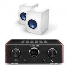 kef ls50 white. marantz hd-amp1 integrated amplifier black inc kef ls50 mini monitor speakers - white kef ls50