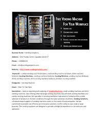 Vending Machines Brisbane Mesmerizing Vending Machines Brisbane Vending Simplicity AuthorSTREAM