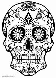 Day Of The Dead Skull Coloring Pages Printable Skulls For Kids